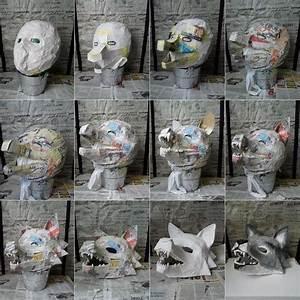 Faschingsmasken Selber Machen : faschingsmasken aus pappmache basteln wolf maske karneval masken selber machen pappmach ~ Eleganceandgraceweddings.com Haus und Dekorationen