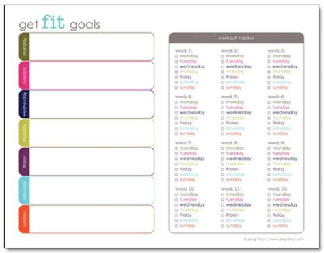 Weekly Fitness Plan Template by 23 Free Printables To Organize Your Family S Health