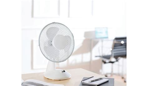 Oscillating Desk Fan Asda by Oscillating 9 Inch Desk Fan Home Garden George At Asda