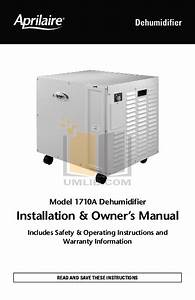 Download Free Pdf For Aprilaire 1710 Dehumidifier Manual