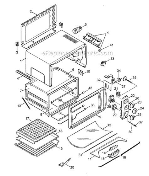 toaster oven parts delonghi xu650 parts list and diagram ereplacementparts