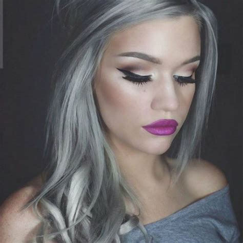 granny hair color  gray hair  women latest