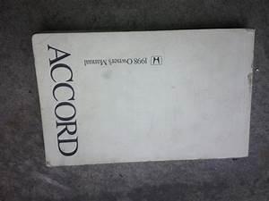 Purchase 1998 98 Honda Accord Owners Manual    Handbook Oem
