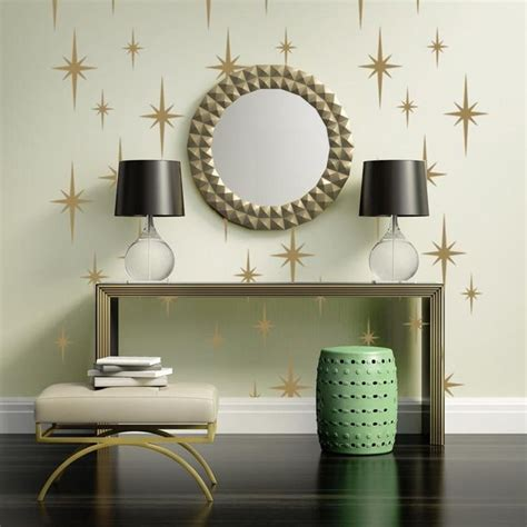 Not only will they label the room with your. Retro Starburst Wall Decals, Atomic Star Wall Decal, Geometric Wall Decor, Mid Century Mod Wall ...