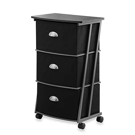 3 drawer storage cart studio 3b 3 drawer storage cart in black bed bath beyond