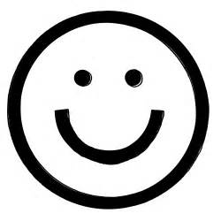 Happy Smiley Face Outline