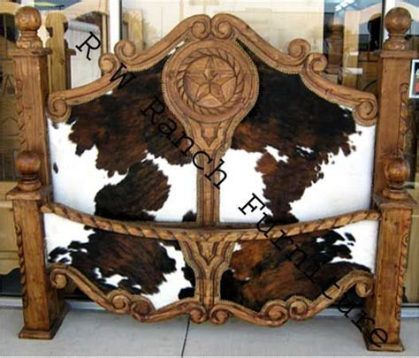 Cowhide Headboard by The Cowhide Bed I Spied In Canton Trade Days