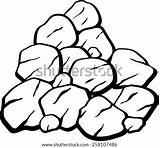 Coal Rocks Coloring Clipart Pile Pages Vector Minerals Miners Shutterstock Clip Vectors Similar Printable Civil Engineering Construction Getcolorings Portal sketch template