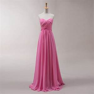 hot pink sweetheart backless bridesmaid dresses chiffon With wedding maid of honor dresses
