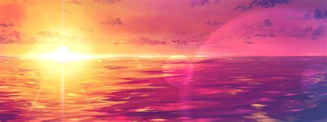 background pemandangan pink gambar pemandangan keren