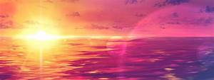 Pink Sunset Wallpaper HD - WallpaperSafari