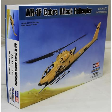 Hobbyboss 87224 Ah-1f Cobra Attack Helicopter 1/72 Scale