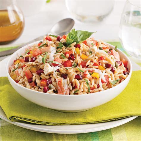 cuisine salade salade d 39 orzo au crabe recettes cuisine et nutrition
