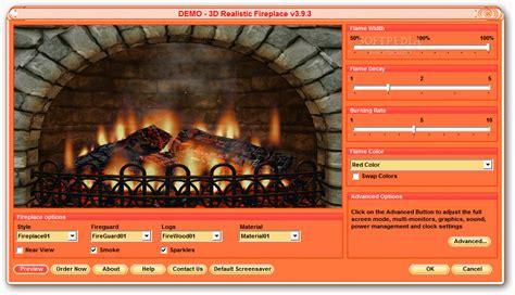 Realistic Fireplace Screensaver - 3d realistic fireplace screen saver 3 9 7