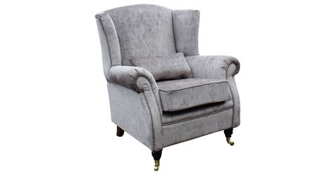 Wing Chair Fireside High Back Armchair Belvedere Pewter