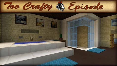 minecraft bathroom design too crafty 16 youtube
