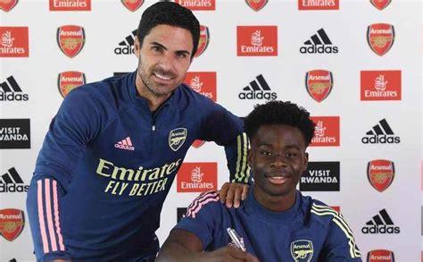 Bukayo Saka Signs Long Term Deal With Arsenal