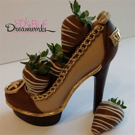 chocolate michael kors inspired stiletto filled