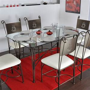 Table Verre Et Fer Forgé : table rectangulaire en fer forg et verre coffee ~ Teatrodelosmanantiales.com Idées de Décoration