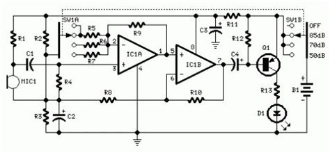 How Build Room Noise Detector Circuit Diagram