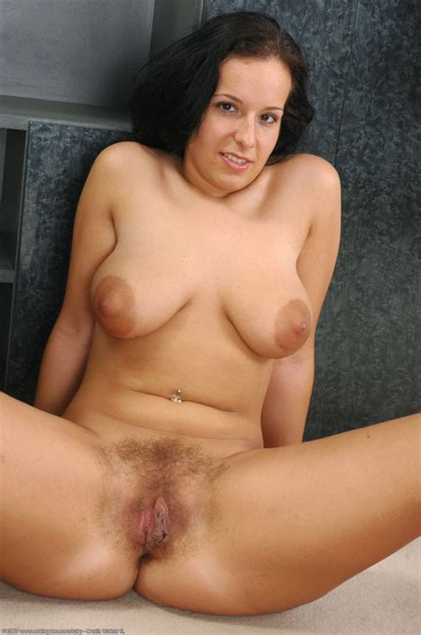 Brunette Mature Babe Shows Her Nice Tits And Hairy Pussy