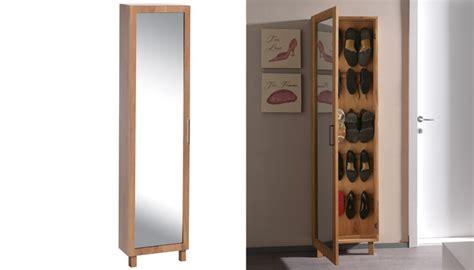 rangement colonne cuisine meuble à chaussure avec porte miroir