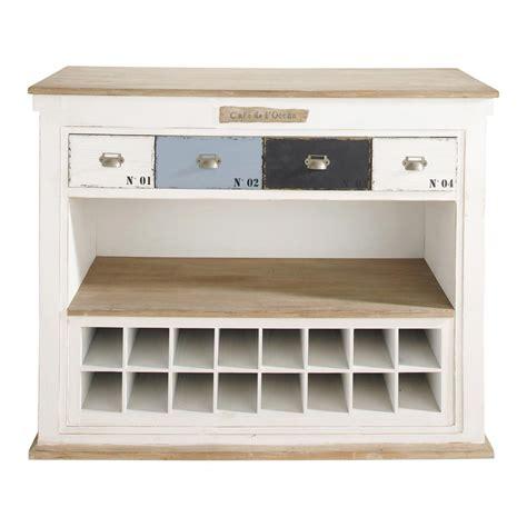 meuble de bar cuisine meuble de bar avec tiroirs en bois blanc effet vieilli l
