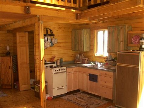 Small Log Cabin Kitchen Ideas by 14 X 24 Owner Built Cabin