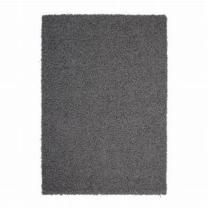tapis salon shaggy trendy 30mm 80x140 gris fonce achat With tapis tufté gris
