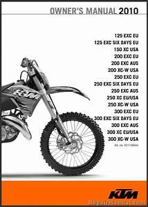 2010 Ktm 125 150 200 250 300 Xc Xc