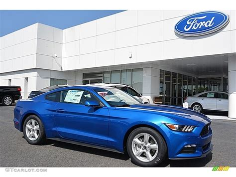 2017 Ford Mustang V6 Specs by 2017 Lightning Blue Ford Mustang V6 Coupe 114354971