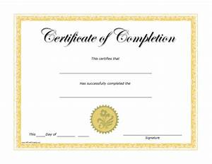 Completion Certificate - Free Printable - AllFreePrintable.com