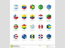 L'Amérique Du Sud Et Icônes Des Caraïbes De Drapeau