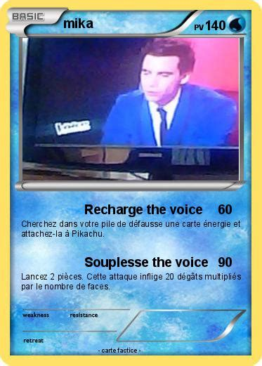 pokemon mika   recharge  voice ma carte pokemon