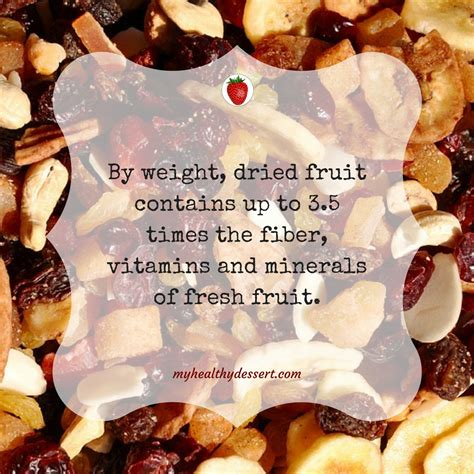 fun facts  dried fruit  healthy dessert