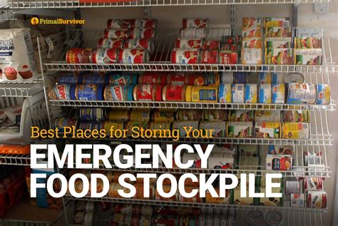 best emergency food best places for storing your emergency food stockpile