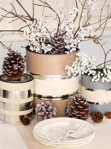 pine cone christmas table decorations festive christmas table decoration ideas and tutorials