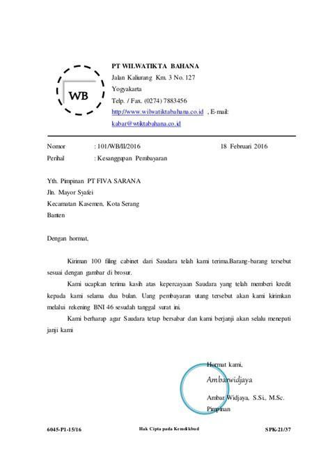 contoh surat balasan kerja praktek dari instansi surat f