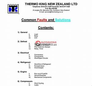 Thermo King Co Nz Manual 2006