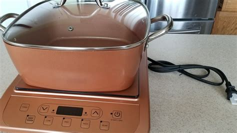 unboxing copper chef induction cooktop   casserole pan  glass press  steamer youtube