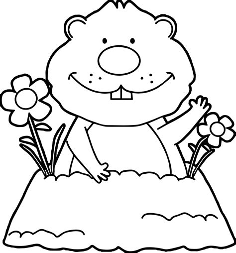 groundhog day coloring pages groundhog coloring pages sketch coloring page