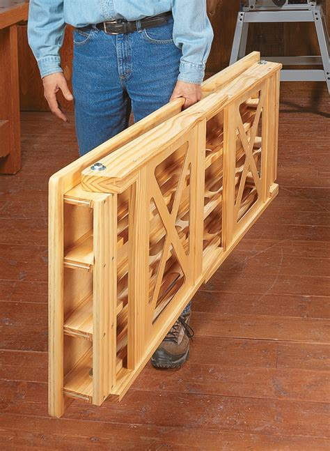 folding worktable woodworking project woodsmith plans