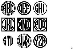 Free Circle Monogram Fonts