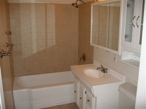Beautiful Bathrooms Images With Simple Bathtub Liners And Single Sink Undermount Design For