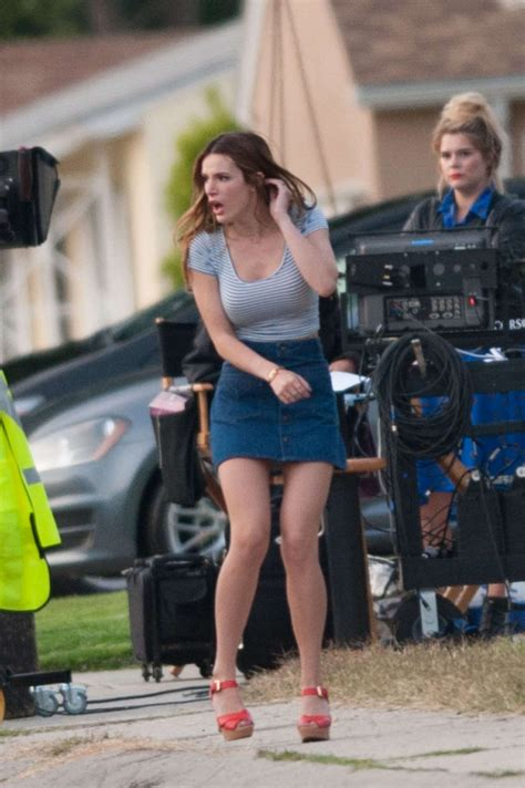 Bella Thorne in Mini Skirt On the Set of 'You Get Me' in ...
