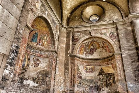 picture medieval cathedral fresco art interior