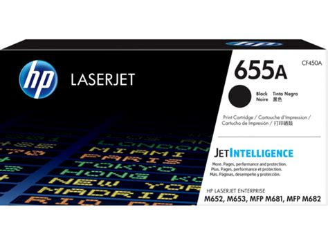 HP 655A Black Original LaserJet Toner Cartridge (CF450A