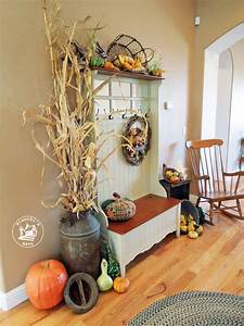 Fall, Entryway, Decorating, Ideas, Using, Natural, Materials