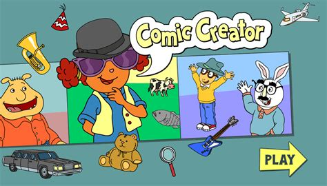 Cartoon Meme Maker - arthur games comic creator pbs kids