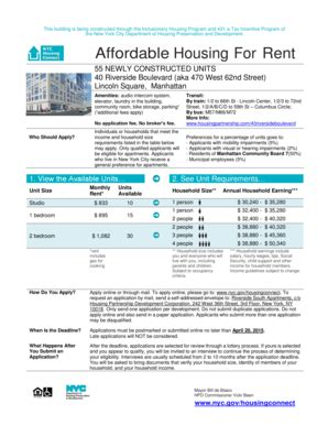 Nyc Connect Housing - nyc housing connect fill printable fillable